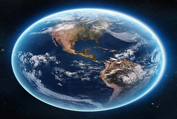 Photo of the Earth.